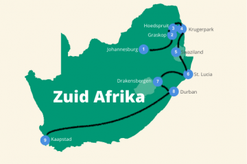 zuid afrika roadtrip route