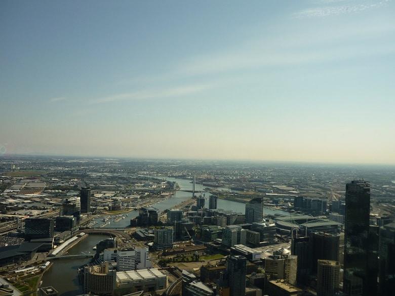 Uitzicht op Melbourne