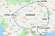 Roadtrip Andalusie route