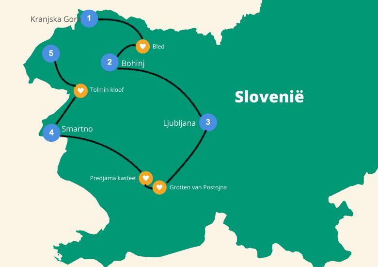 Slovenie roadtrip route