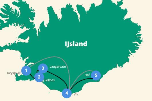 Ijsland route