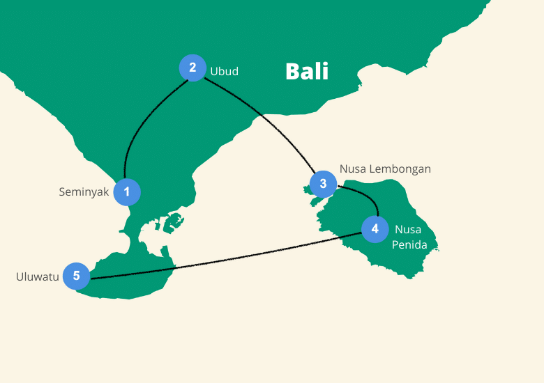 Route Bali 2 weken