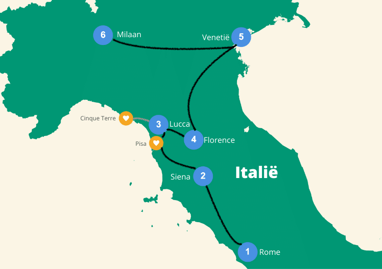 roadtrip italie 2 weken