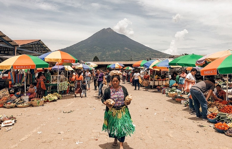 Wat doen bezoek markt Antigua