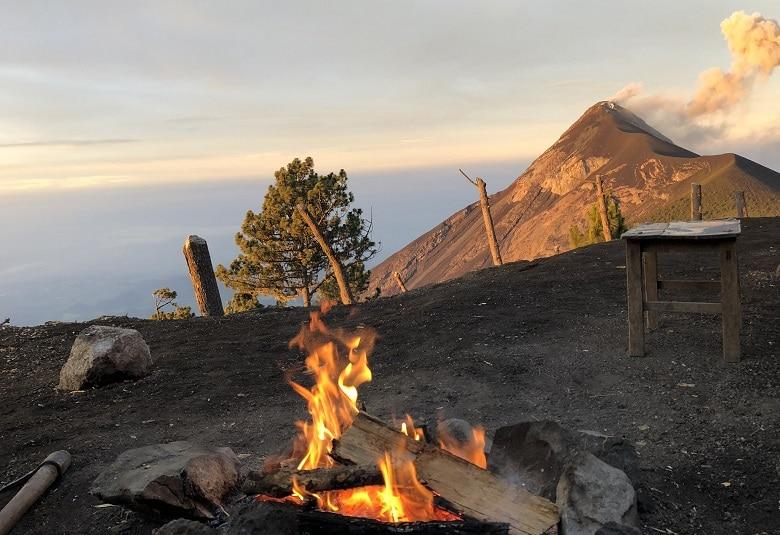 Basecamp Acatenango vulkaan Antigua
