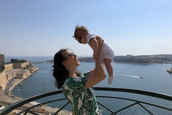 Malta met baby