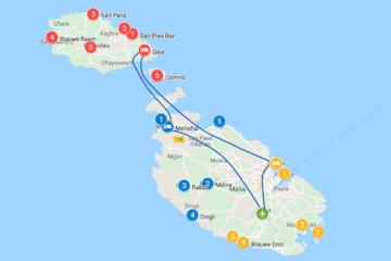 Malta roadtrip 1 tot 2 weken