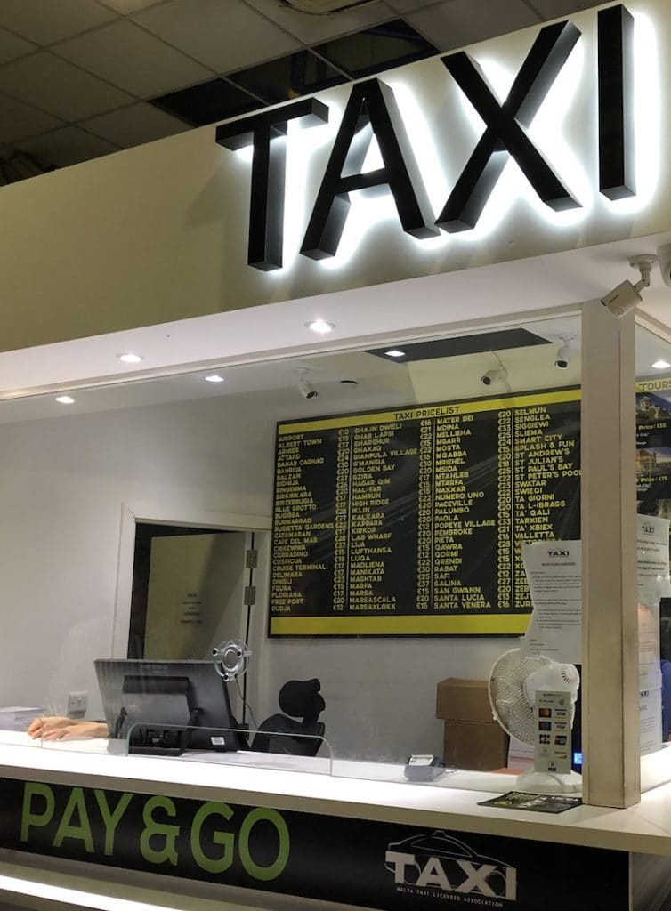 Taxi malta luchthaven naar stad