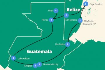 Guatemala en Belize reisroute 3 -4 weken