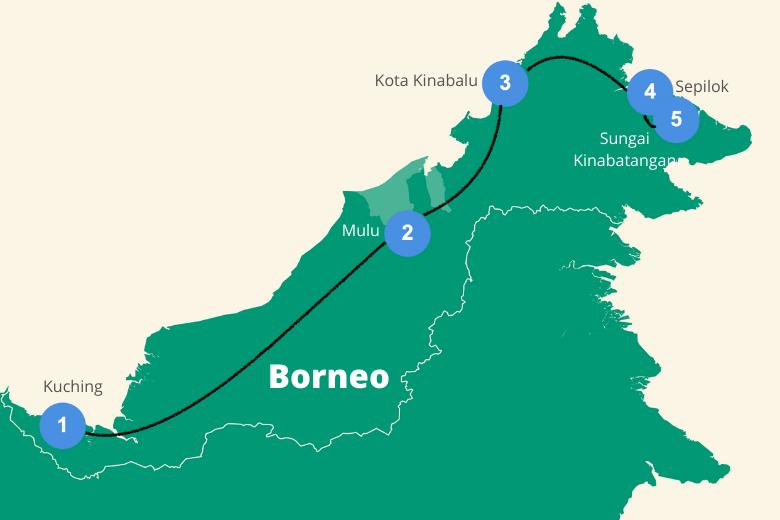 Route Borneo Maleisie