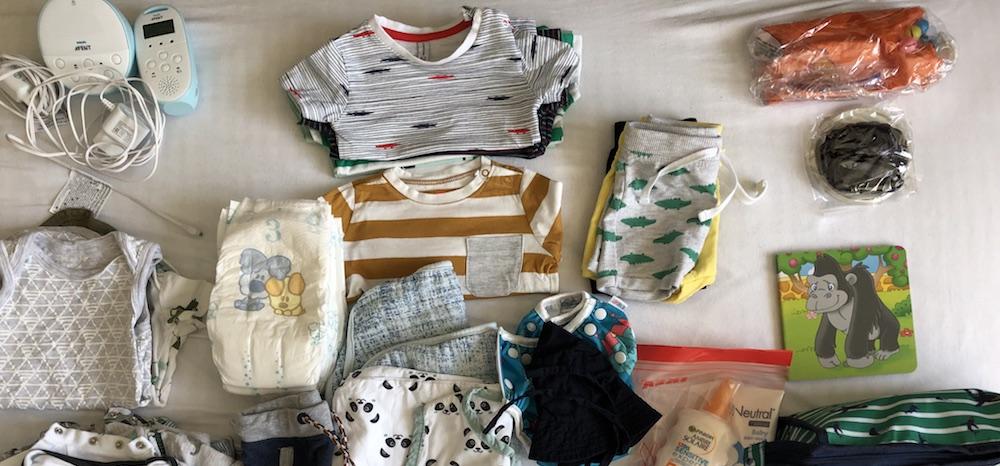 paklijst baby vakantie
