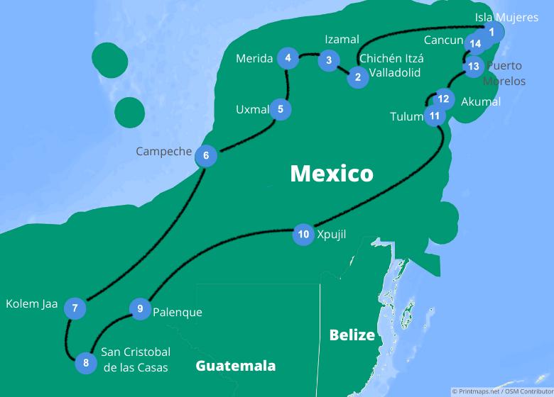 roadtrip mexico 3 weken