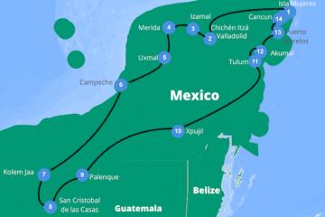 roadtrip yucatan rondreis