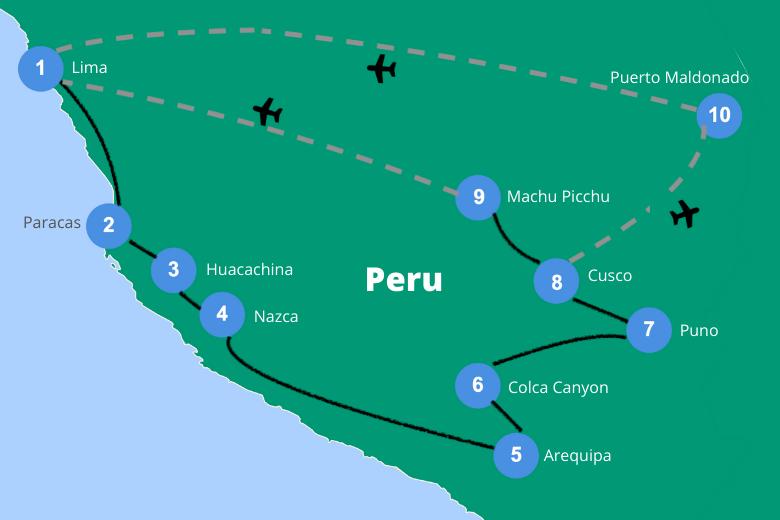 Reisroute Peru 3 4 weken