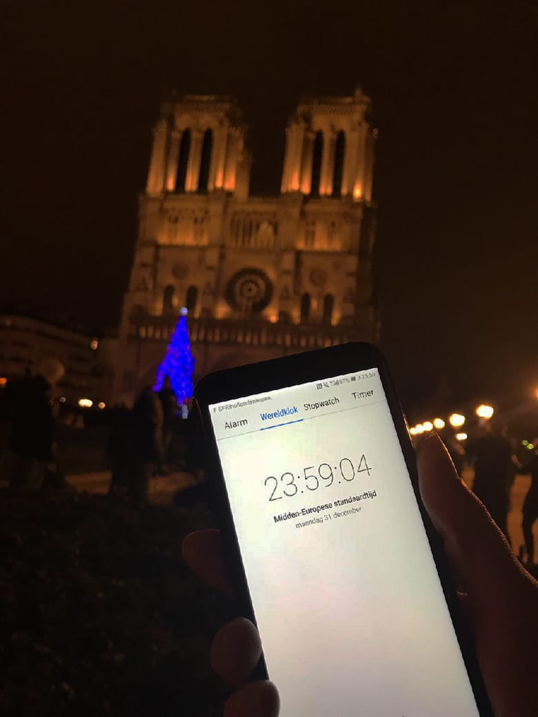 Parijs Notre Dame Oud en Nieuw