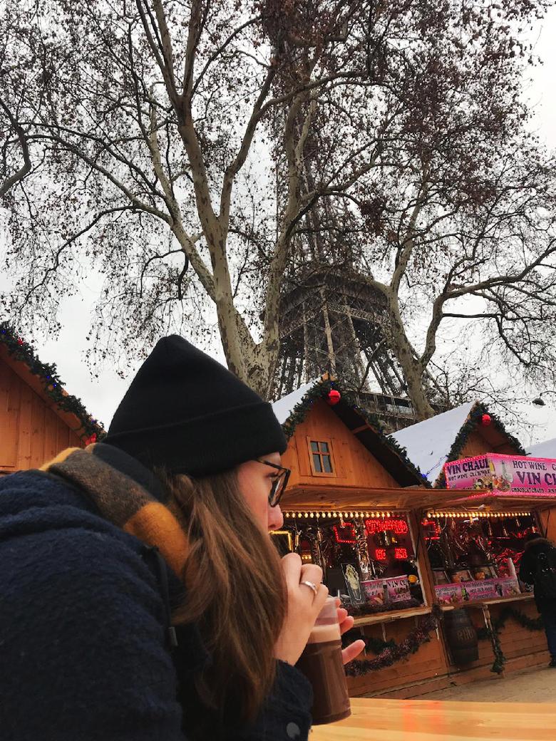Parijs Eiffeltoren kerstmarkt