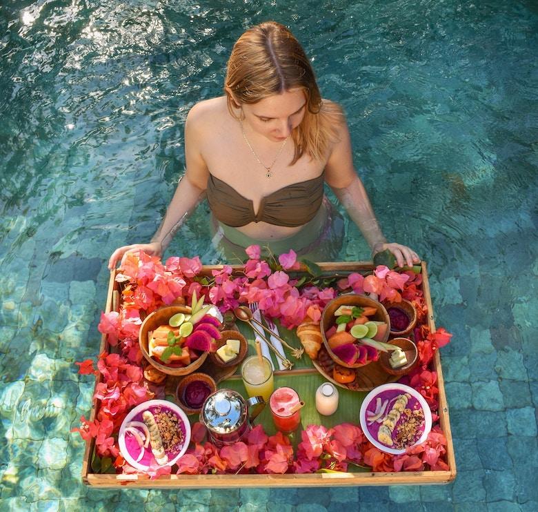 Bali drijvend ontbijt
