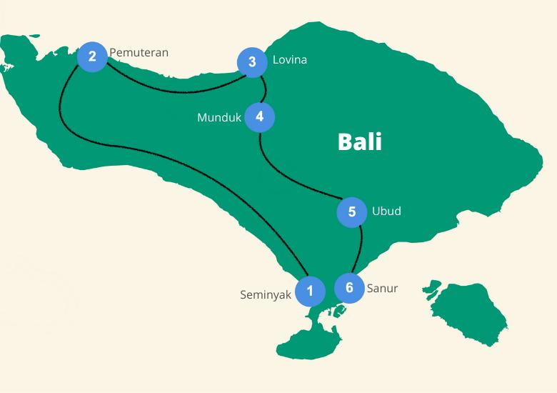Bali reisroute 2 weken
