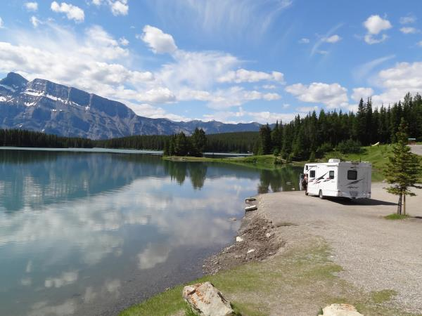 Banff Two Jack Lake camping