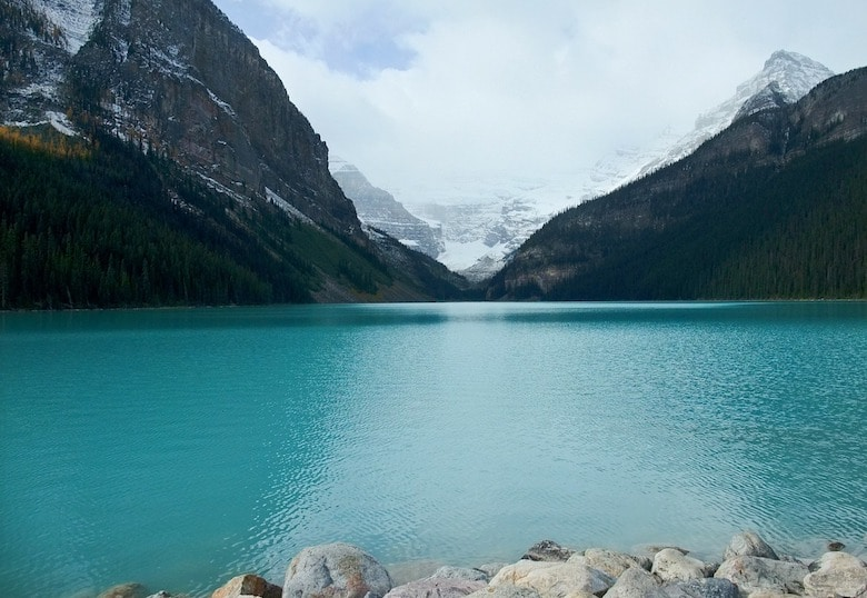 campings bij lake louise canada