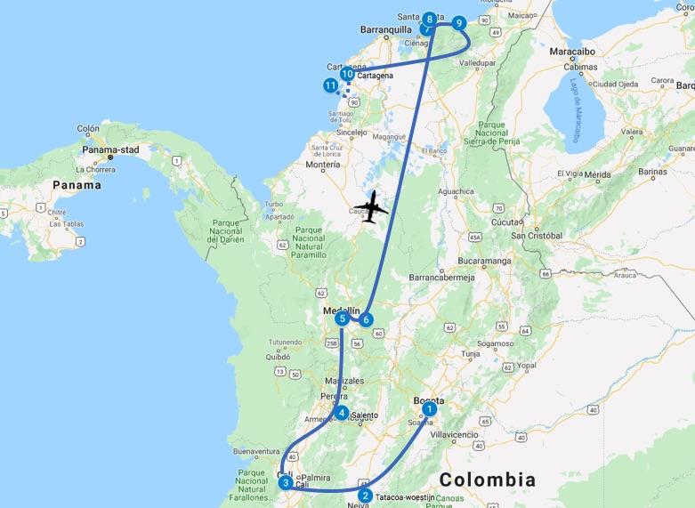 Colombia route 4 weken - 1 maand