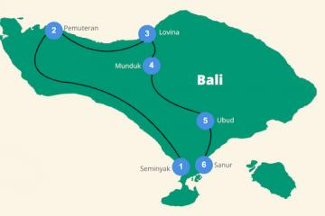 Route Bali rondreis