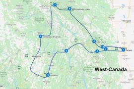 Route west canada 2 weken