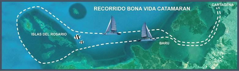 rosario eilanden map