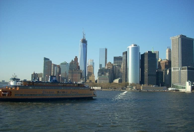 gratis uitzicht skyline new york ferry