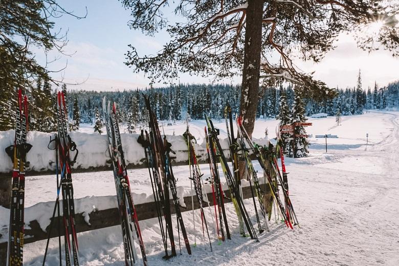 Langlaufen in Lapland