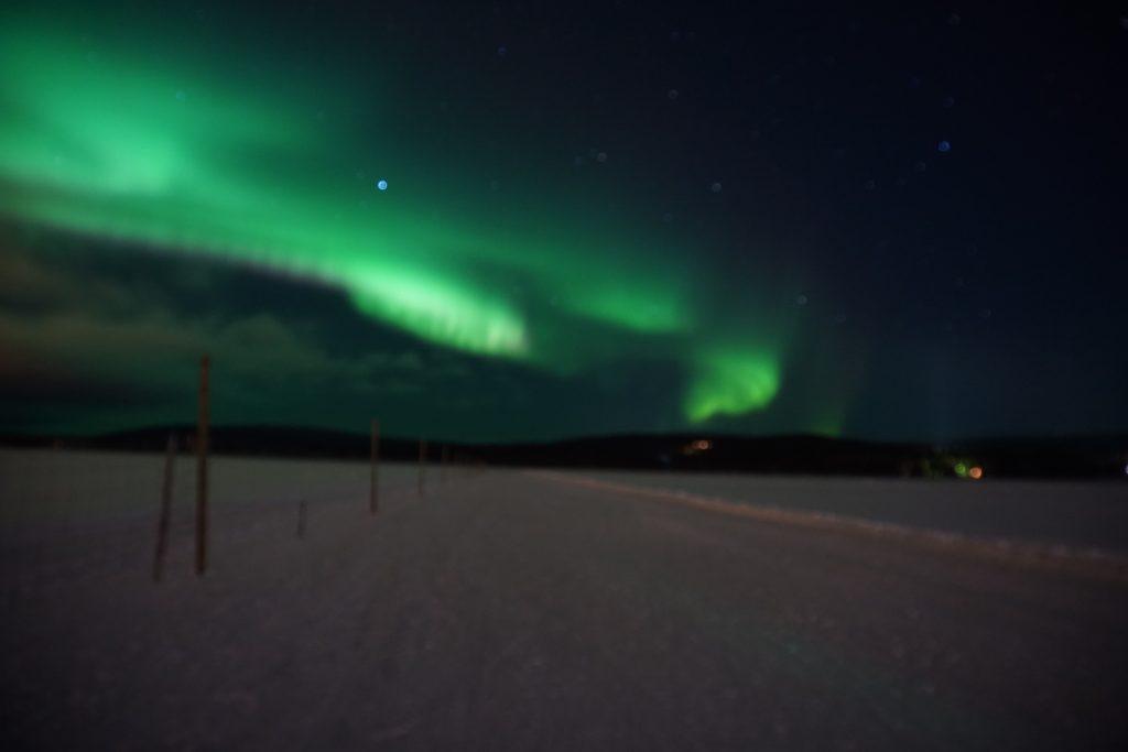 Noorderlicht spotten Akaslompolo lapland