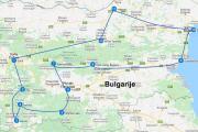 Roadtrip Bulgarije route