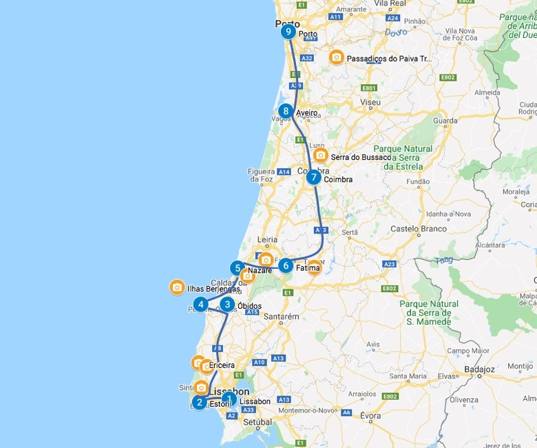 Roadtrip Portugal 2 tot 3 weken