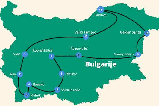 reisroute Bulgarije 3 weken