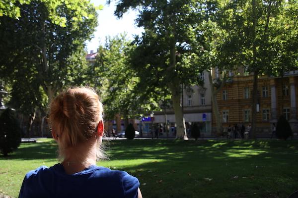 Het Zrinjevac park Zagreb