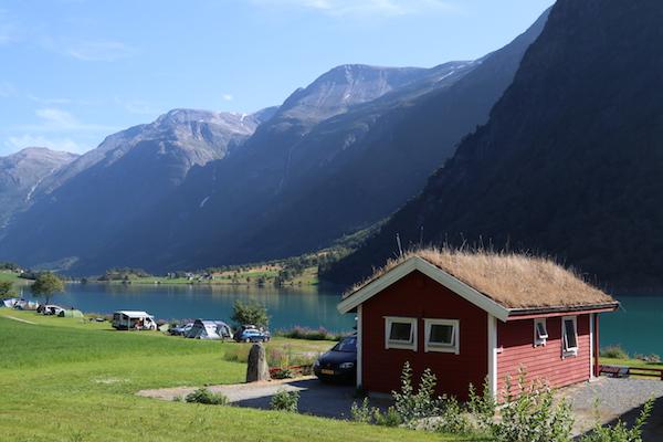 Olden Noorwegen camping accommodatie