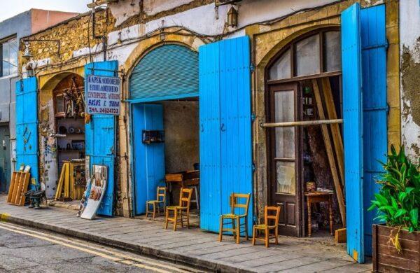 Oude wijk in Larnaca