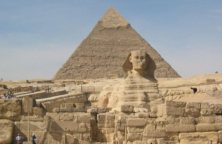 cairo gizeh wereldwonder piramides