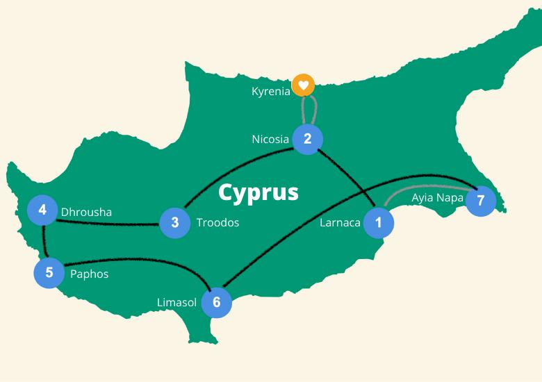 Cyprus reisroute 2 weken