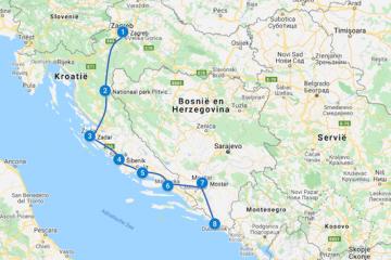 Kroatie route autorondreis