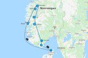 Noorwegen roadtrip auto route
