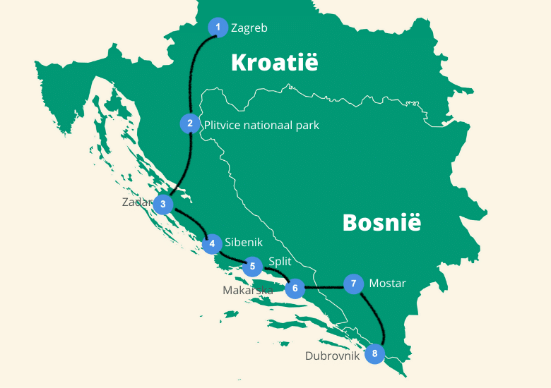 reisroute kroatie roadtrip
