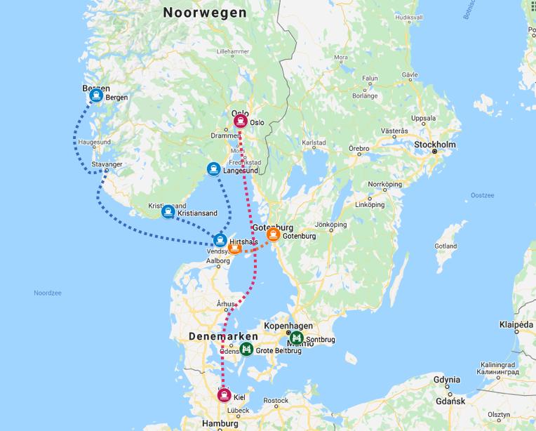 boot naar noorwegen