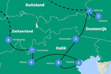 Reisroute europa 3 weken