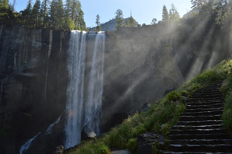 Watervallen in Yosemite National Park