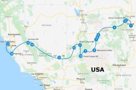 Roadtrip amerika route