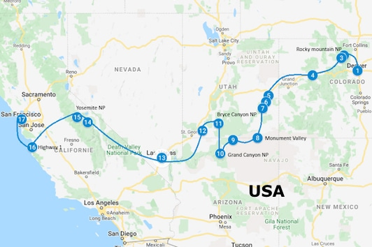 camperreis USA zuidwest Amerika