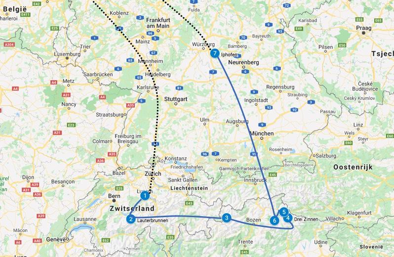 Camperreis europa 2 weken route