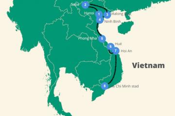 Vietname route 3 tot 4 weken