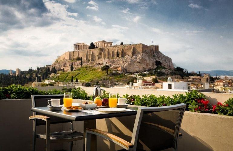 hotels uitzicht akropolis athene